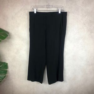 A.L.C. Gauncho Cropped Flared Black Trousers